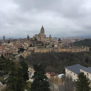 Vistas hacia el pueblo desde la torre