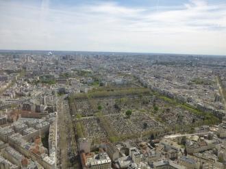 Cementerio de Montparnasse desde las alturas